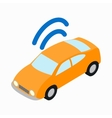 Car Wi-fi icon isometric 3d style vector image vector image