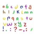 Cartoon paper font vector image