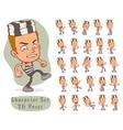 cartoon prisoner boy big set for animation vector image