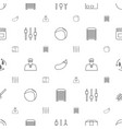 closeup icons pattern seamless white background vector image vector image