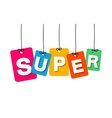 colorful hanging cardboard Tags - super vector image