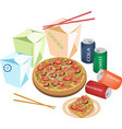 Delivery Food For Take Away to Home vector image