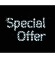 Dianond Word Special Offer vector image vector image