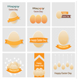 Easter set greeting cards vector image