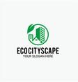 eco cityscape logo vector image
