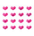 emoticons heart gradient vector image