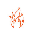fire icon design template isolated vector image
