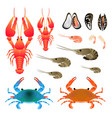 flat gradient sea food concept isoleted on white vector image vector image