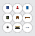 flat icon electronics set of resistor bobbin vector image vector image