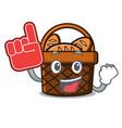 foam finger bread basket mascot cartoon vector image