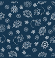 folk blue decorative folk ornament seamless vector image vector image