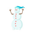 funny funny snowman with a nose in the form of a vector image vector image