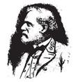 general robert e lee vintage vector image vector image