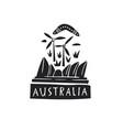 hand drawn stylized map of australia travel vector image