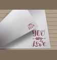 hand lettering design vector image
