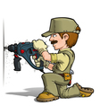 Handyman Drilling Khaki vector image vector image
