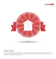 home or house icon - red ribbon banner vector image