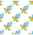 ice cream cone seamless pattern for design vector image vector image