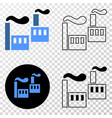 industrial factory eps icon with contour vector image