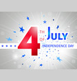 july 4th us independence day poster vector image vector image