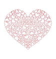 Large heart with many small hearts inside vector image vector image