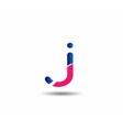 letter J logo icons design template elements vector image vector image