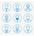 Man outline silhouettes People line icons vector image vector image