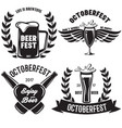 oktoberfest beer festival typography emblem beer vector image vector image