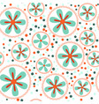 pattern with flowers in circles vector image vector image