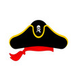 pirates cap isolated hat buccaneer bones and vector image vector image