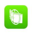 podium fashion belt icon green vector image