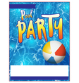 Pool Party Flyer vector image vector image