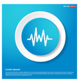 pulse line icon abstract blue web sticker button vector image