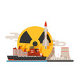 radioactive nuclear power plant building vector image vector image