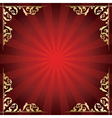 red background with golden ornamental corners vector image vector image