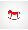 Rocking Horse Symbol Icon vector image