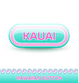 rounded and glossy button with traditional vector image vector image