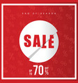 sale end of season icon in red color vector image vector image