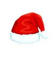 santa clause hat icon vector image vector image