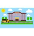School bus rides to school vector image vector image