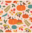 seamless pattern with autumn colorful elements vector image vector image