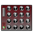 Security KeyPad with touch panel and speaker vector image