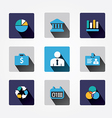 Set design business concept icons and apps Icons vector image vector image