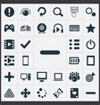 set of simple play icons vector image vector image