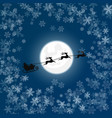 silhouette of santa in snow vector image vector image