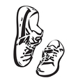 Sneakers shoes sketch drawing Sneakers isolated vector image