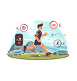 sports apps for fitness vector image