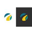 square swirl company logo vector image vector image