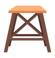 stool wooden place interior for sitting vector image vector image