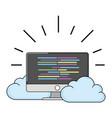 technology computing screen cartoon vector image vector image